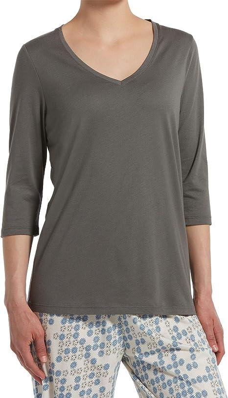 HUE Womens Knit Long Sleeve Pajama Sleep Shirt