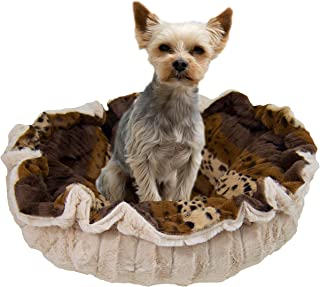 product image for BESSIE AND BARNIE Ultra Plush Wild Kingdom/Natural Beauty Luxury Deluxe Dog/Pet Cuddle Pod Bed