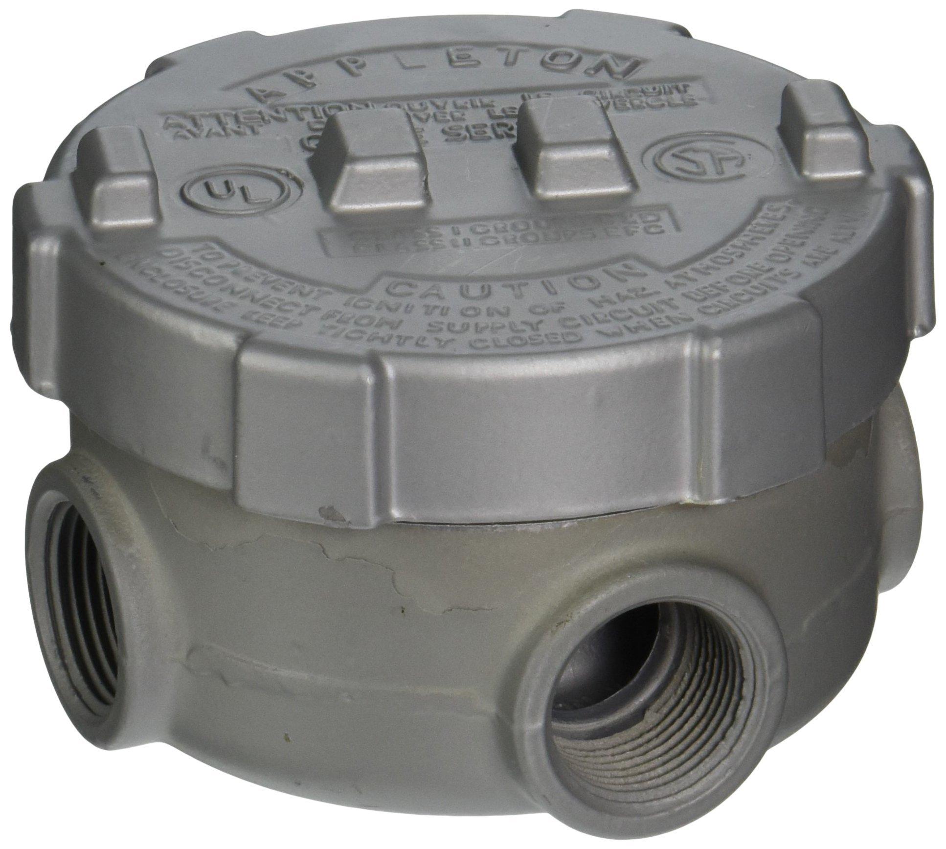 Appleton GRUE75-A Conduit Outlet Box, Aluminum, 3/4'' Hub