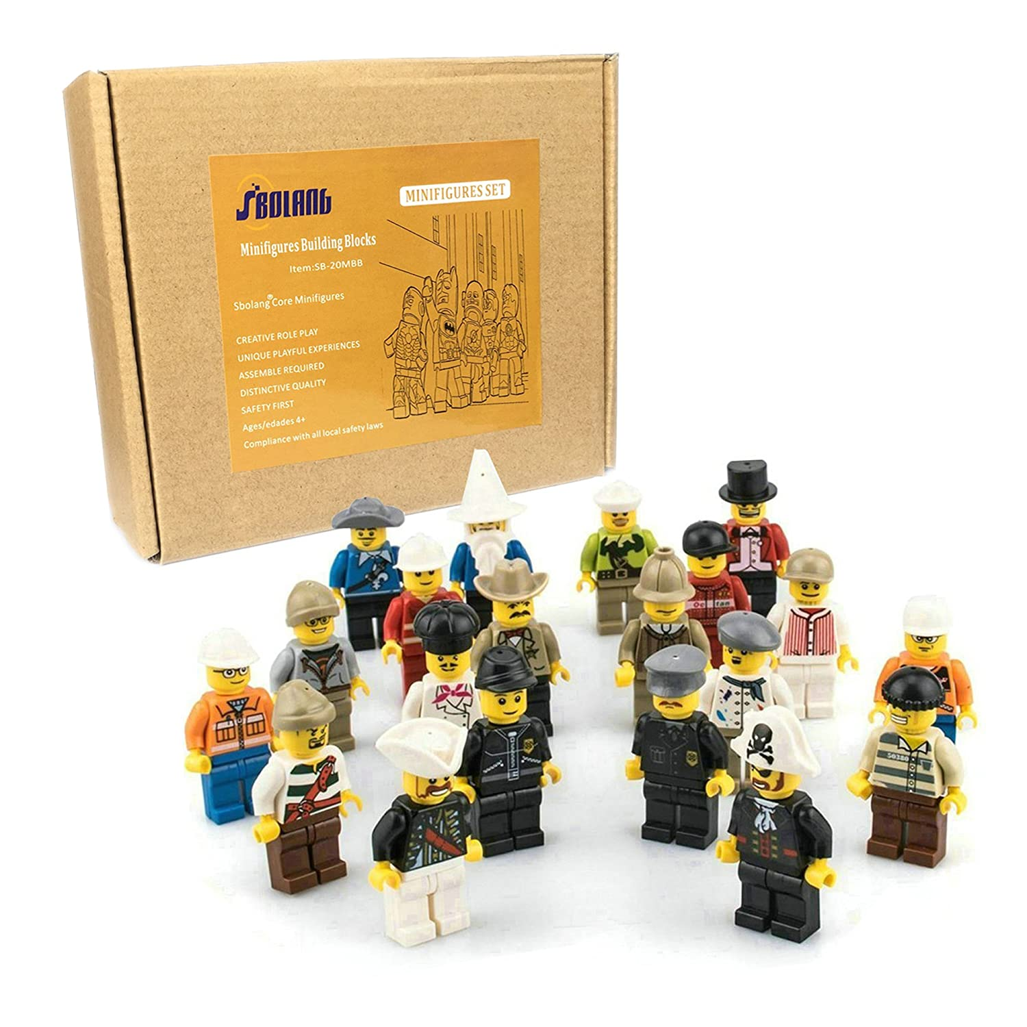 ArRord Premium Quality 20pcs Family and Community Minifigures Men People Minifigs