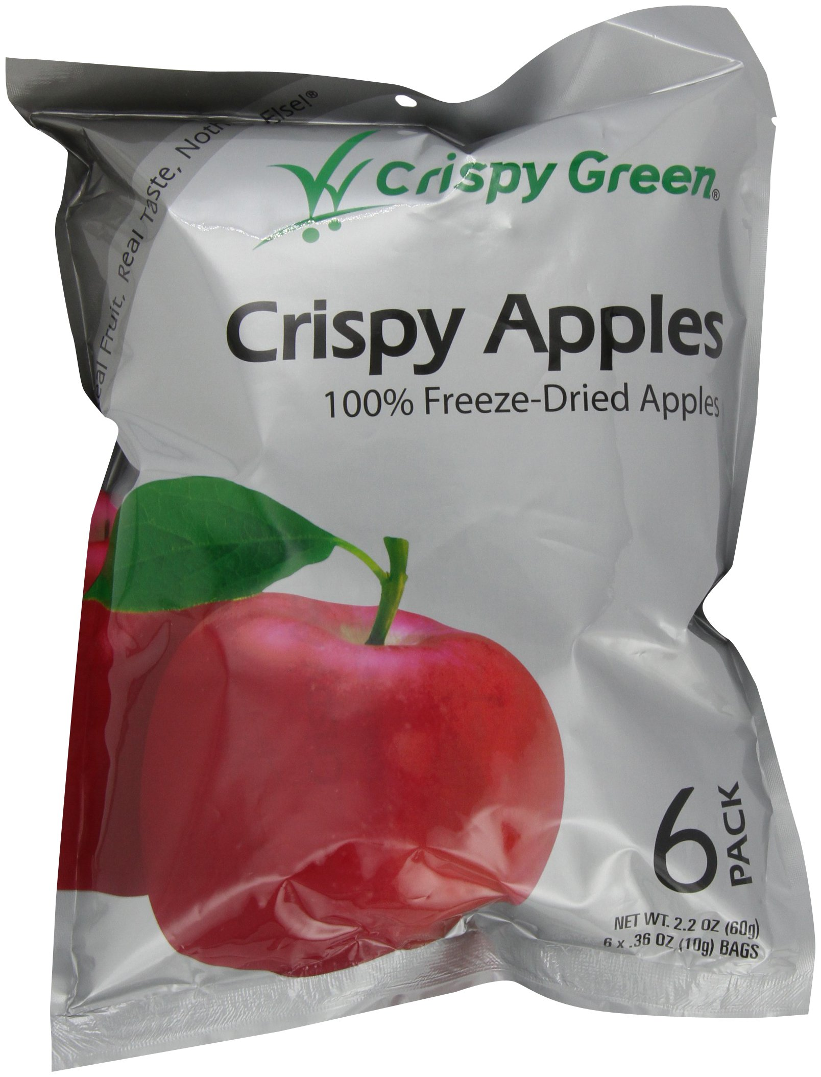 Crispy Green Fruit Snacks, Crispy Apples, 2.2-Ounce Pouches (Pack of 3) by Crispy Green