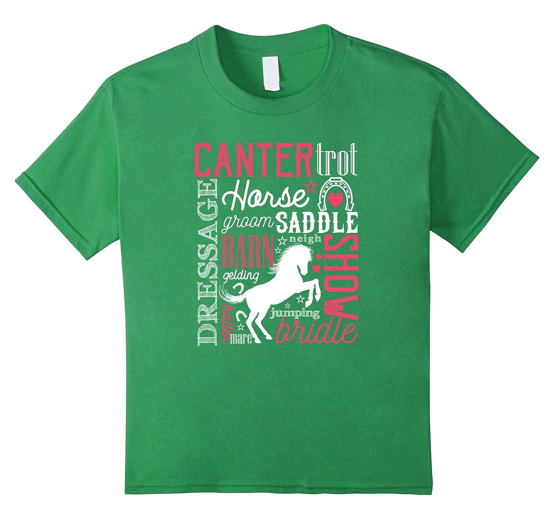 Kids Horse T Shirt Girls Horses-Teechatpro