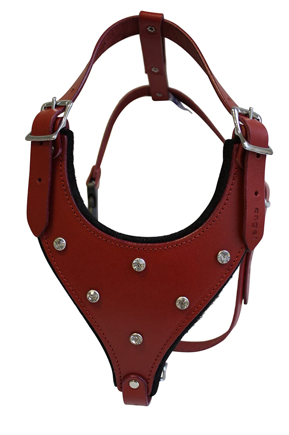 Valentine Red m Valentine Red m Leather Rhinestones Bling Dog Harness, Med, Red, 100% Genuine silverinean Leather (Malibu) for Med. Breeds. Neck  10.5  20.5 . Chest  20 -27