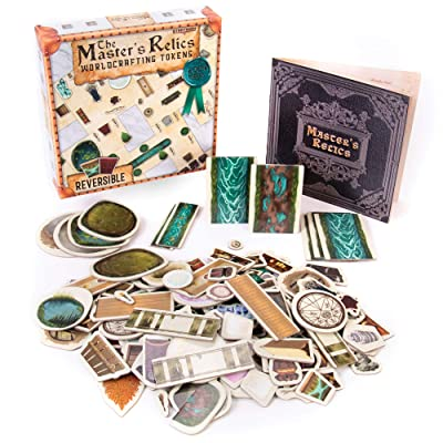 Master's Relics - RPG Item Token Accessory Set - 200+ Double-Sided Dry / Wet Erase Reversible Object Pawns for Fantasy Tabletop Roleplaying Game Terrain Tiles and Dungeon Battle Maps - D&D Compatible: Toys & Games