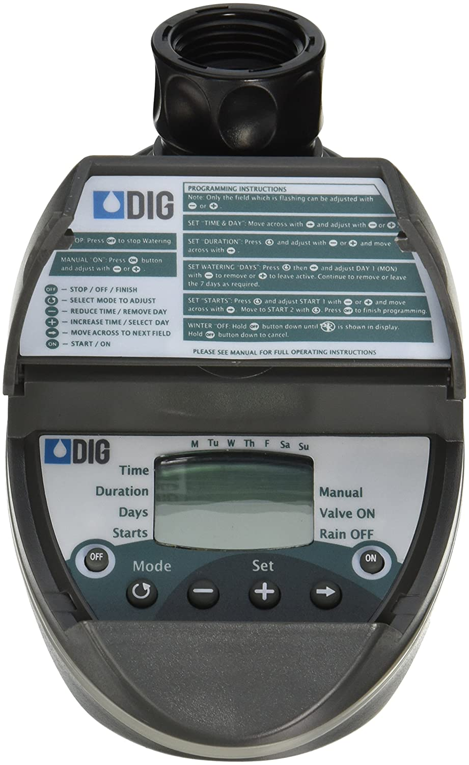 Dig Corporation Hose End Timer Clamshell 6.5  H X 4  W X 6  D