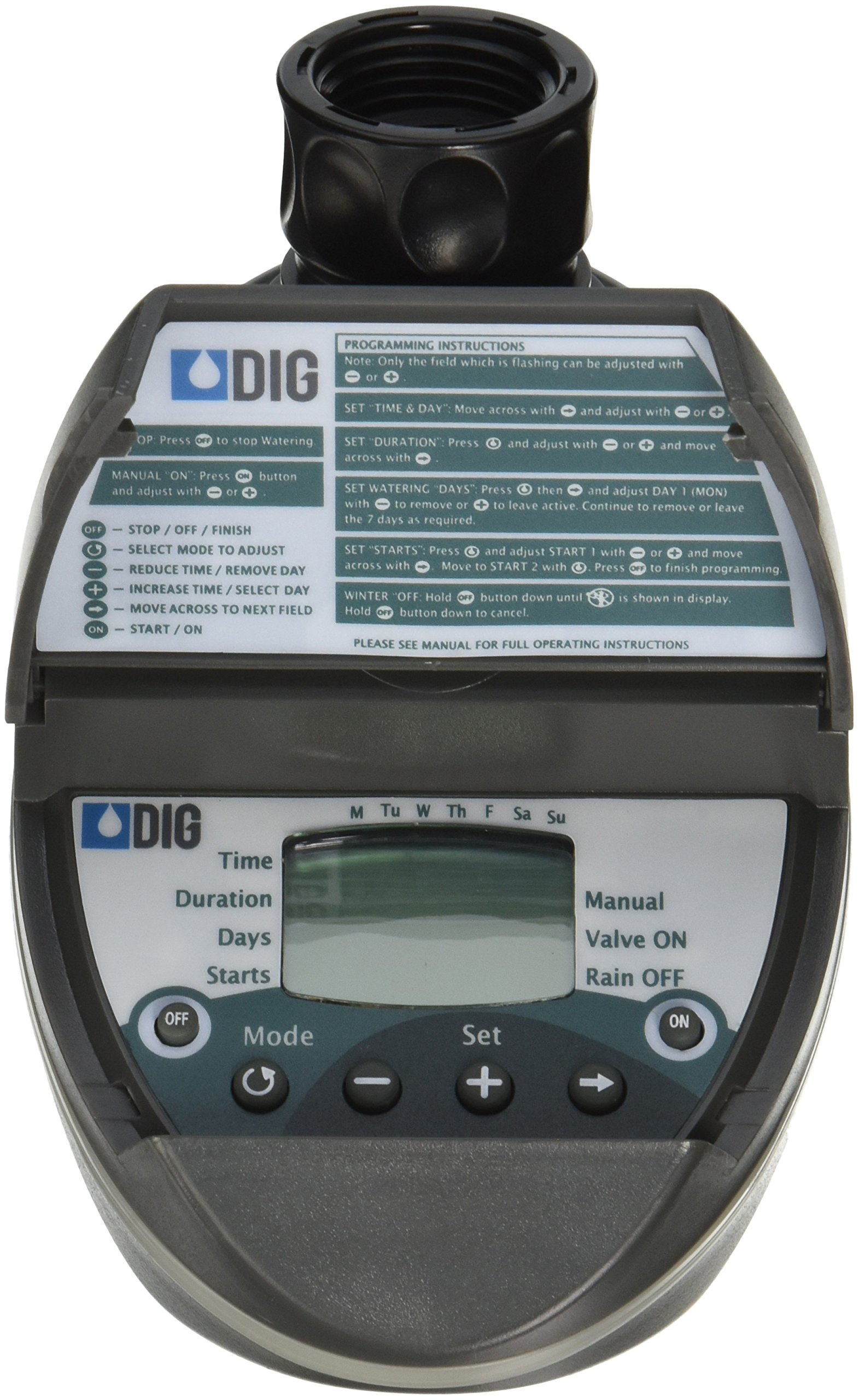 DIG BO9D - Battery Powered Digital Hose End Irrigation Watering Timer Clamshell Single Station