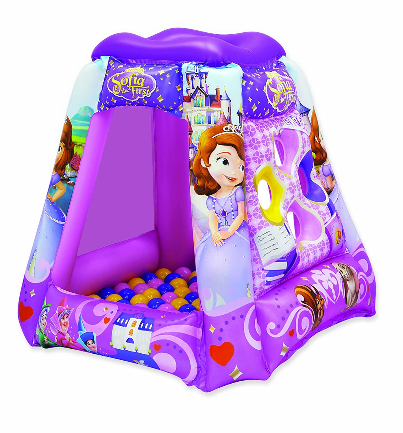 Sofia The First Princess in Training Ball Pit, 1 Inflatable & 20 Sof-Flex Balls, Purple, 37W x 37D x 34H Walt Disney 3391