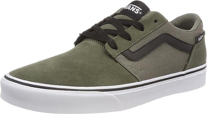 Vans Chapman Stripe Sneakers Damen Herren Unisex Grün (Dusty Olive)