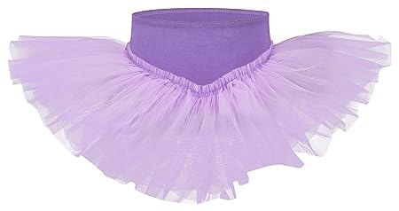 tanzmuster Kinder Tutu Ballettrock Pia aus weicher Baumwolle und Tüll zum Reinschlüpfen - Tuturock in rosa, weiß, schwarz, he