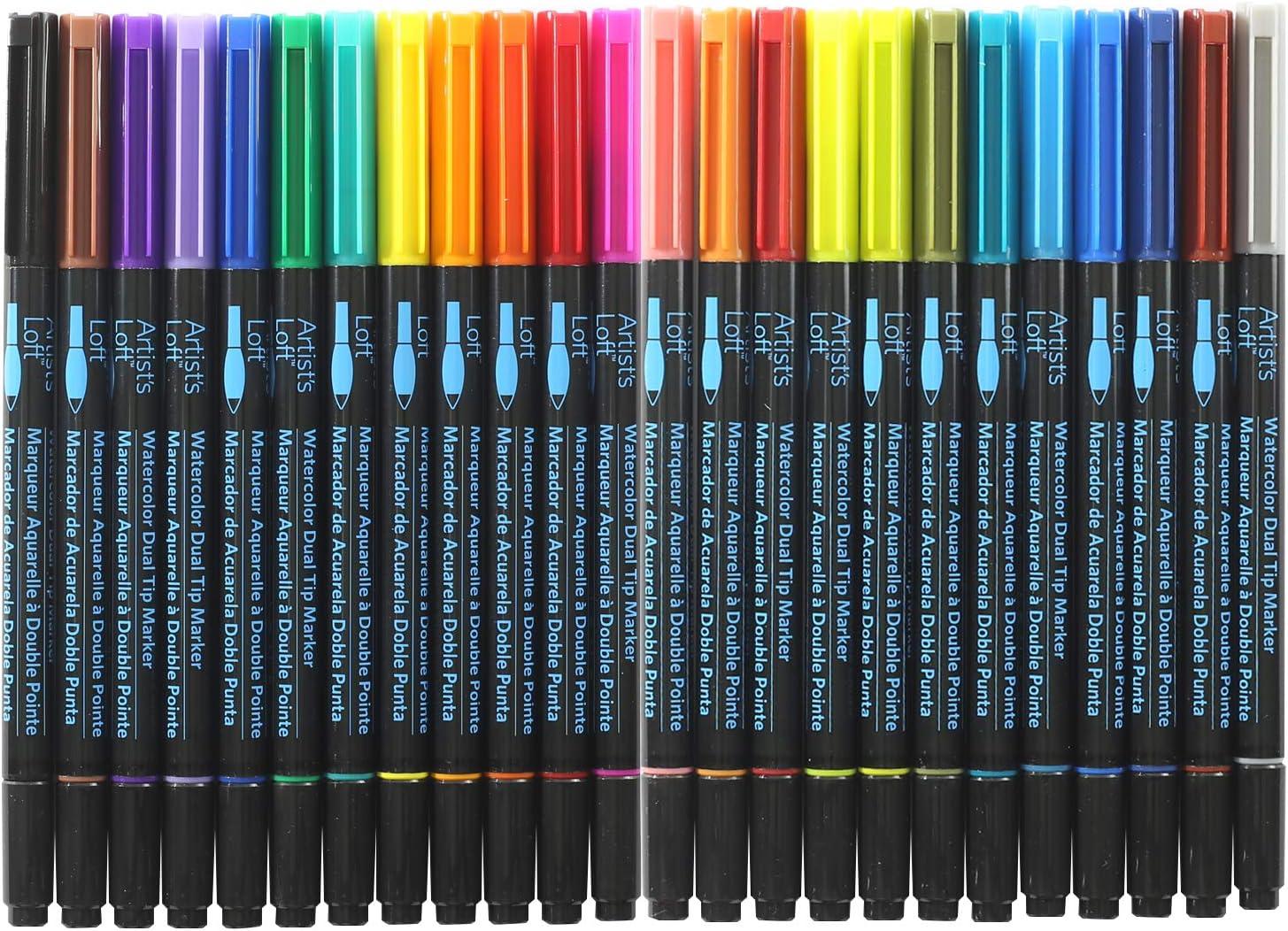 Nuevo Artist/'s Loft Acuarela Marcadores de punta doble 48 Colores