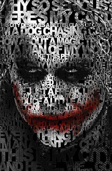Posterhouzz Dark Knight Joker Quote Paper Poster (Multicolor, 12 Inches X  18 Inches)