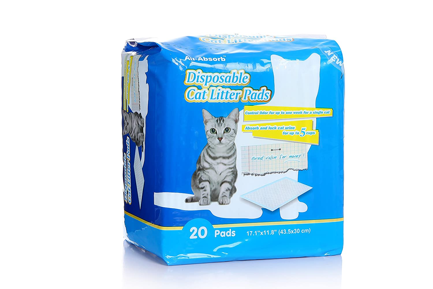 All-absorb Almohadillas de Arena para Gatos 20 Hilos, 43,5 x 30 cm: Amazon.es: Productos para mascotas