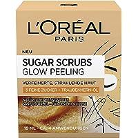 L'Oréal Paris Sugar Scrubs Glow Gezichtspeeling, met Suiker en Druivenpitolie, Voor een Gladde en Stralende Huid…