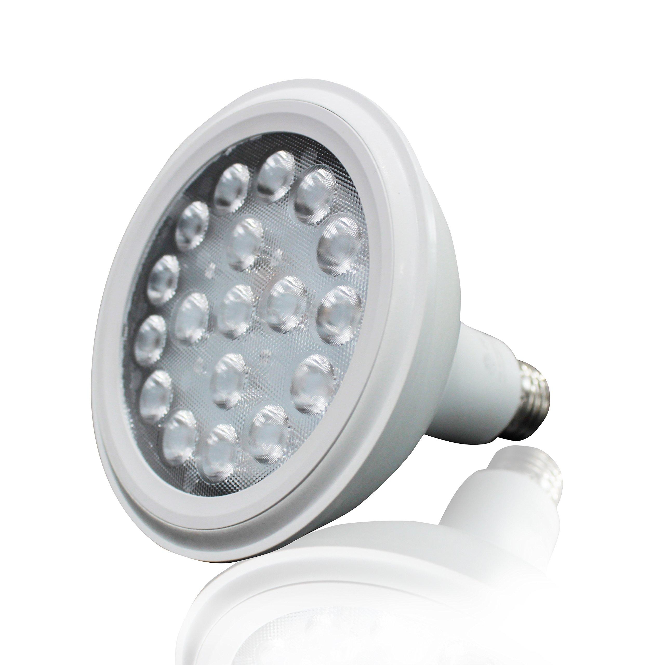 Maravi Multi-Spectrum LED Grow Light Bulb for Indoor Garden Greenhouse Organic Plants Flower Vegetable (Medium Base E26 18w 3 Bands) (C)