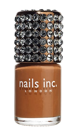 Nails Inc Knightsbridge Crystal Cap Glossy Russet 10 ml: Amazon.co ...