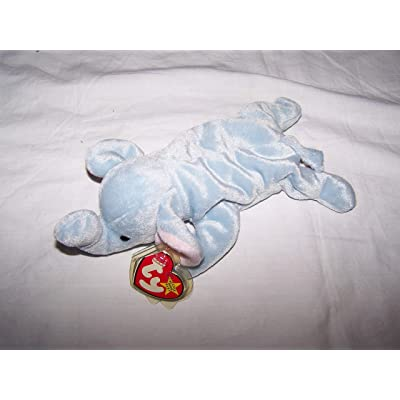 Ty Beanie Babies - Peanut the Light Blue Elephant: Toys & Games