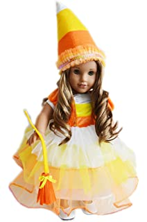 Amazon.com: Witch Costume Fits American Girl Doll or 18 Inch Doll ...