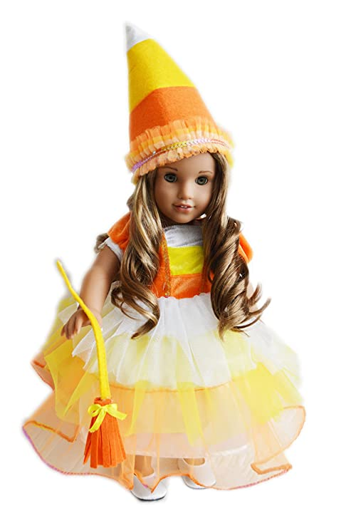 My Brittanyu0027s Candy Corn Witch Halloween Costume For American Girl Dolls  sc 1 st  Amazon.com & Amazon.com: My Brittanyu0027s Candy Corn Witch Halloween Costume For ...