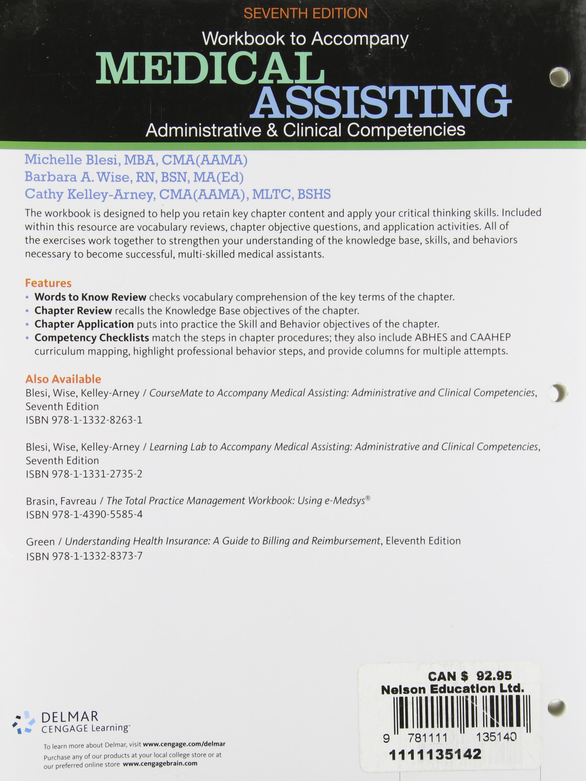 Workbook For Blesi Wise Kelly Arney S Medical Assisting