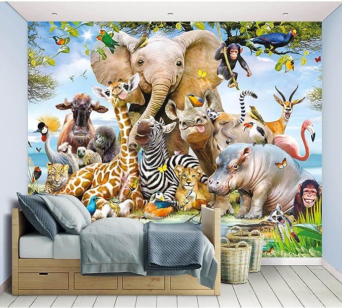 Fototapete Dschungel Safari Inkl Tapetenkleister Kindertapete Wandtapete Küche Haushalt