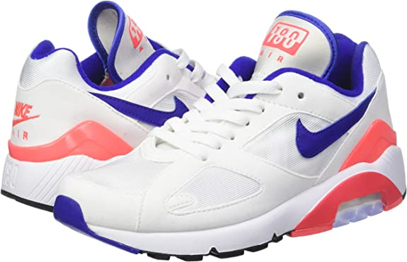 Nike W Air MAX 180, Zapatillas de Running para Mujer, Multicolor (White/Ultramarine So 100), 43 EU: Amazon.es: Zapatos y complementos