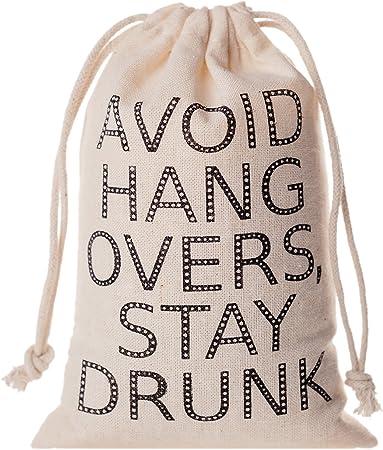 Muslin Bag Hangover Kit Bachelorette Party Favor Champagne Campaign Favor Bag Champagne Campaign Hangover Kit Bachelorette Party