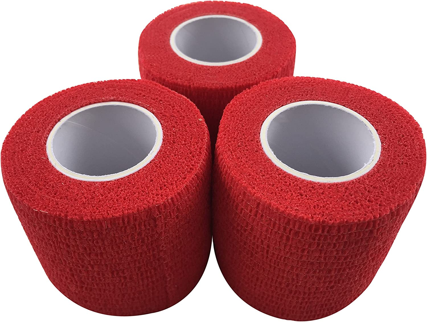 zechy Grip Tape - Hockey, Baseball, Lacrosse, Any Other Sports requiring a Solid Grip - 2 inch by 15 feet (red)(3 Pack) : Sports & Outdoors