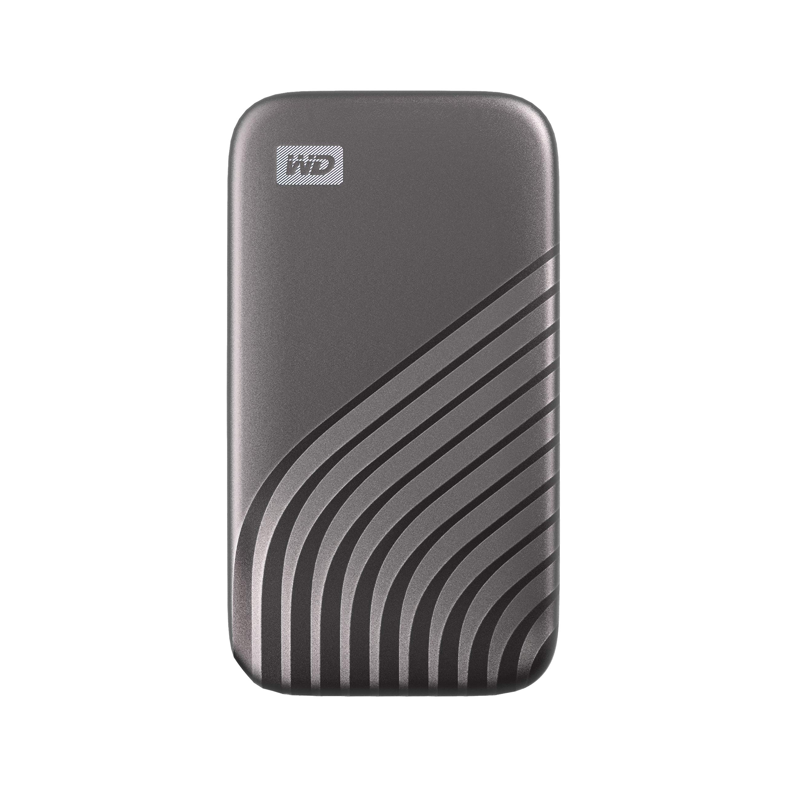 WD 1TB My Passport SSD External Portable Solid State Drive, Gray, Up to 1,050 MB/s, USB 3.2 Gen-2 and USB-C Compatible (USB-A for Older Systems) - WDBAGF0010BGY-WESN