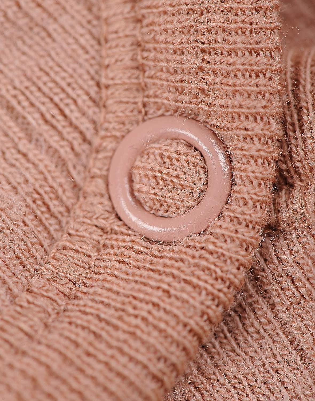 Dilling Rippstrick Baby Body mit kurzen /Ärmeln aus 100/% Bio-Merinowolle
