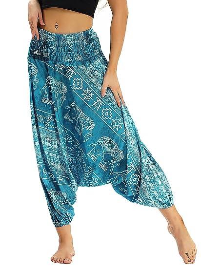 42dfbc4de7a Prettyard Women Girl Elephant Loose Dance Drop Bottom Boho Harem Yoga Pant  Trousers - OneSize fit