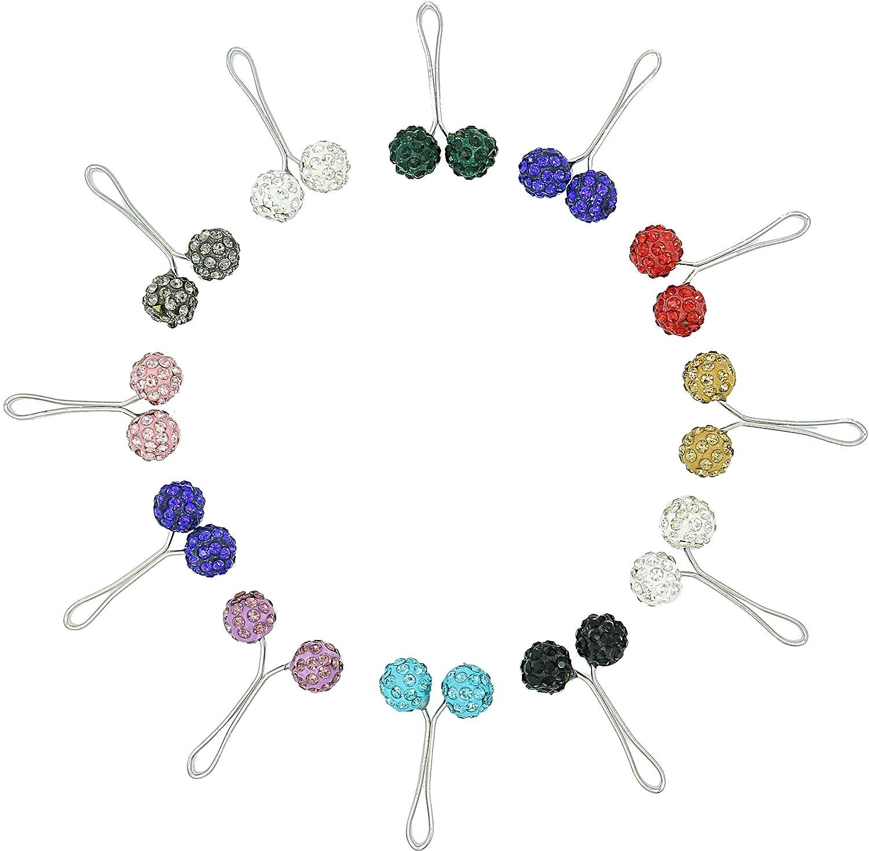 Ababalaya 4cm Muslim Multi-Use Strass Ball Pins Hijab Pins Zubehör Packung von 12 SJK1