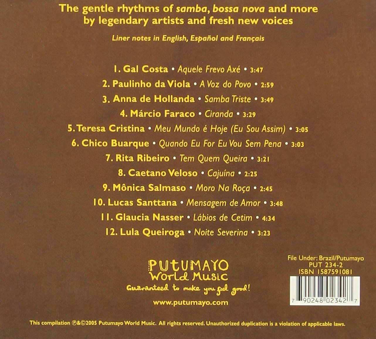 Acoustic Brazil by Putumayo World Music