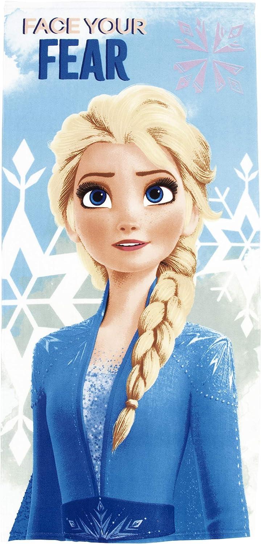 Toalla Disney Frozen Elsa para Playa o Piscina Ba/ñador Frozen Culet/ín para ni/ñas