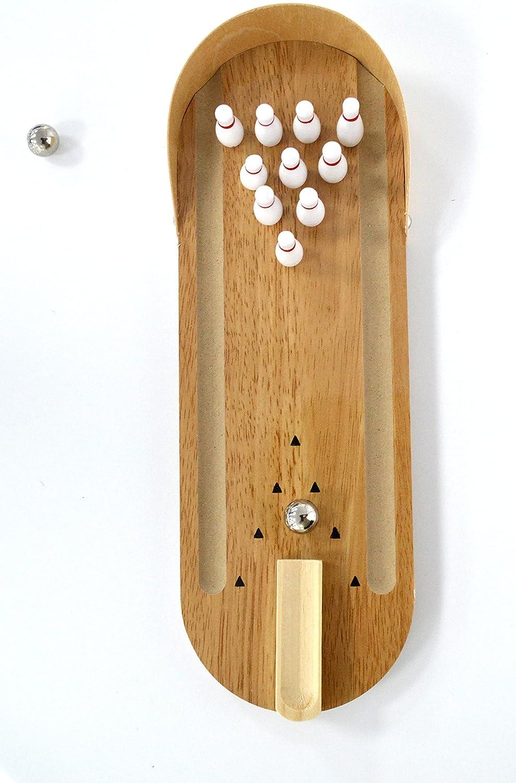 Mesa de juego de bolos superior, una bolera de madera en miniatura ...