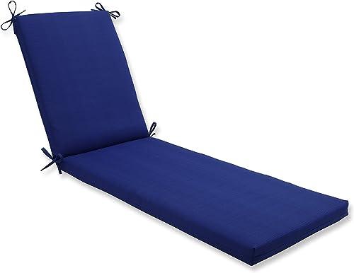 Pillow Perfect Outdoor Indoor Veranda Cobalt Chaise Lounge Cushion, 80 x 23 , Blue