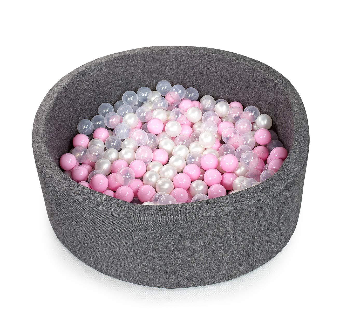 Gris Tweepsy B/éb/é Piscine A Balles pour Enfants Bambin 250 Balles 90x30cm Rond Fabriqu/é en EU BKOZN3N Piscine Gris Clair: Blanc