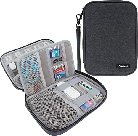 Damero Organizador de Cables Bolsa de Tarjetas SD Estuches de Memoria Fundas para USB,(No Tiene Accesorios) Negro: Amazon.es: Electrónica