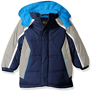 c7947d5298d3 Amazon.com  iXtreme Boys  Cut   Sew Colorblock Puffer  Clothing