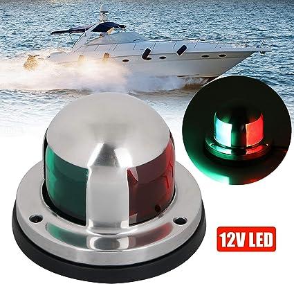 Marine Boat Pontoon Yacht Light Stainless Steel LED Bow Navigation Light Top