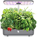 Wattne 12 Pods Hydroponics Growing System with LED Grow Light for Home Kitchen, Adjustable (8-19 inches) Height, Automatic Ti