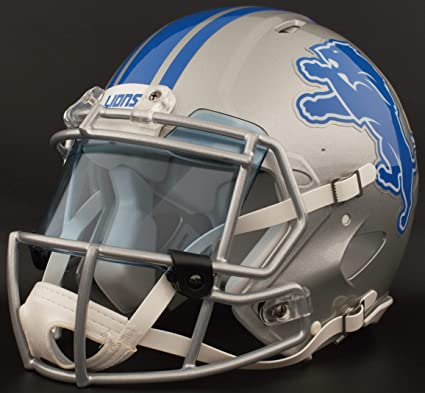 Image Unavailable. Image not available for. Color  Riddell Custom Detroit  Lions Full Size NFL Speed ... 35181e8a4