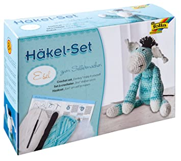 Folia 23939 Häkelset Esel 26 Cm Amazonde Spielzeug