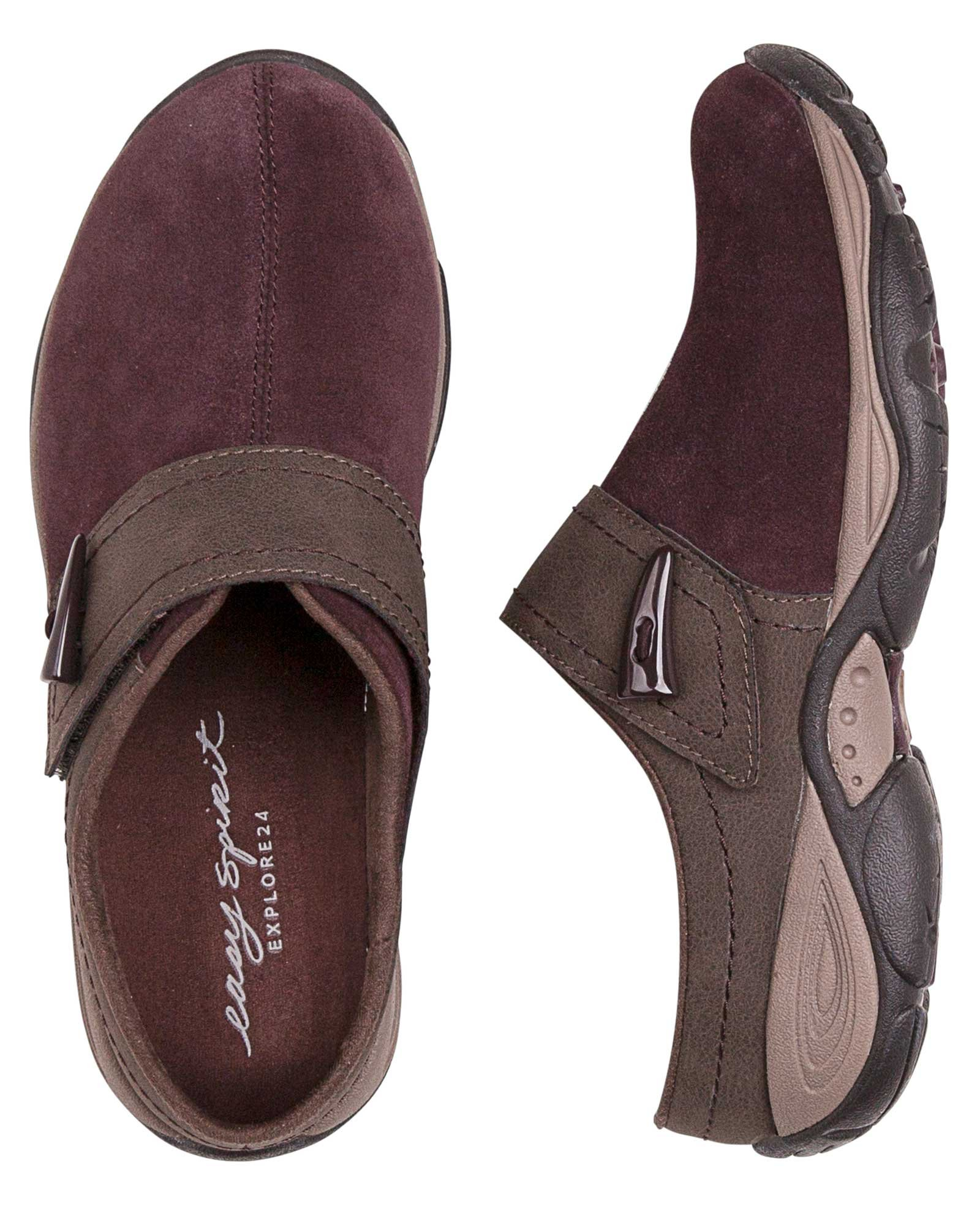 Easy Spirit Womens Eliana Slip-On Shoe, Vine/Chestnut, 10 C/D US
