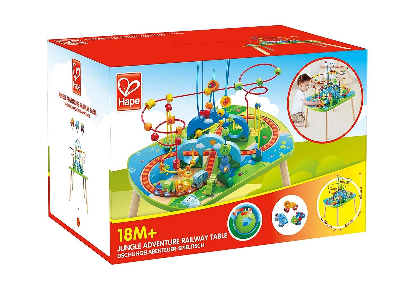 Hape 3824 Dschungelabenteuer-Spieltisch Eisenbahn