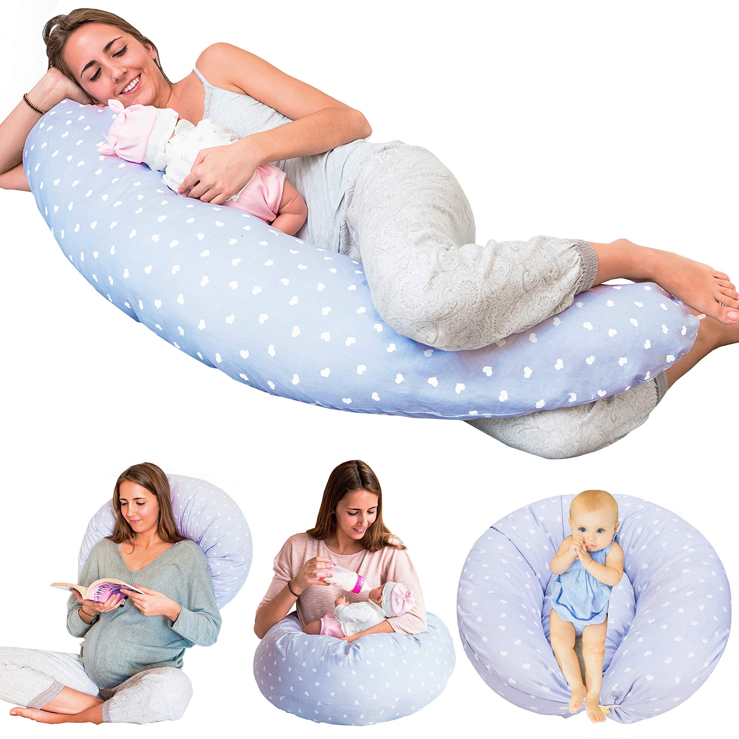 Bamibi Multifunctional Pregnancy Pillow & Breastfeeding Pillow + Inner Cushion. Cover 100% Cotton, Filling 100% Polyester, Baby Nest, Nursing Pillow, Maternity Pillow by Bamibi