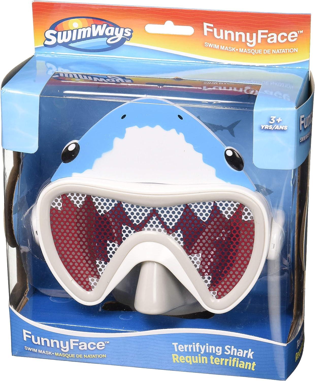 SwimWays 6047312 Funny Face Swim Mask, Shark