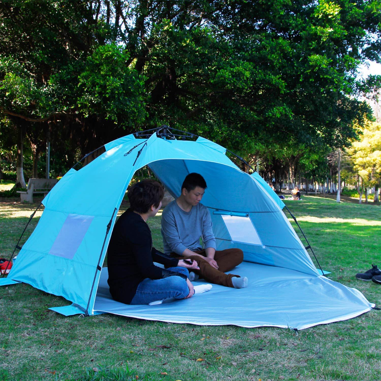 Beach Tent Strand Camping Zelt Sonnenschutz mit UV-Schutz Sonnenschutz Automatisches Zelt 2 oder 3 Personen f/ür Outdoor-Aktivit/äten