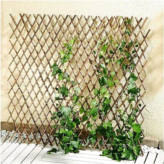 YOGANHJAT Celosia Madera Extensible Celosía de Madera Enrejado Jardín Madera Natural Enrejado de bambú Valla jardín Planta Apoyo Pannels enrejados marrón,100 * 37cm/39.3 * 14.5in: Amazon.es: Hogar