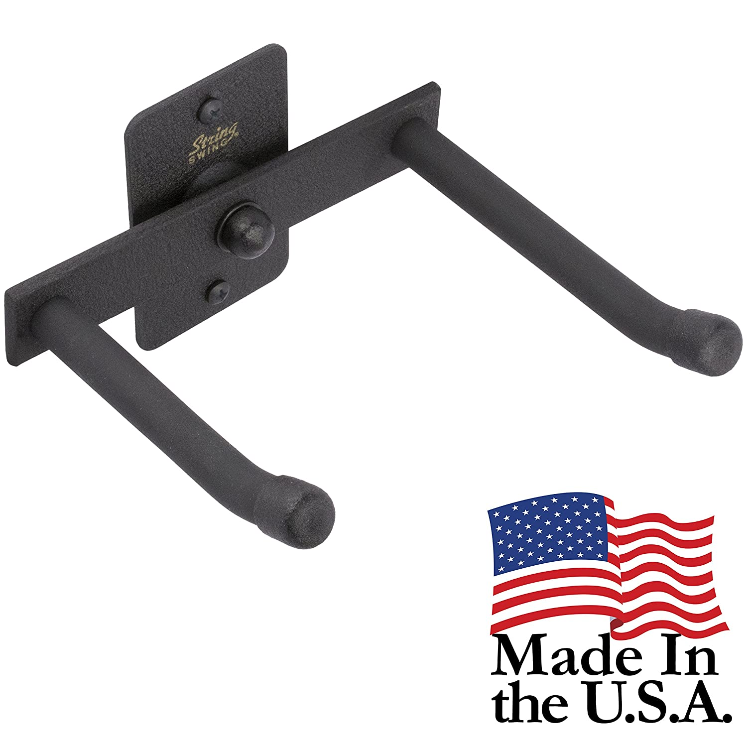 String Swing Horizontal Trumpet Holder - Stand for all Trumpets Including Piccolo and Pocket Trumpet- Stand Accessories Home or Studio Wall - Musical Instruments Safe without Hard Cases - Made in USA BHH12H-FW