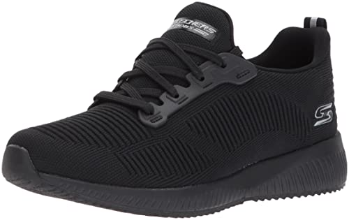 Skechers Bobs Squad-Twinning, Zapatillas sin Cordones para Mujer, Negro (Black/White), 39.5 EU